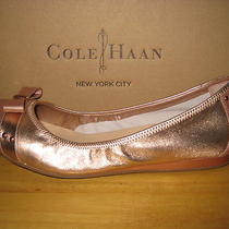 168 Cole Haan   Monica Pink/gold  Metallic  Leather  Ballet Flats  Sz. 9 / 39 Photo