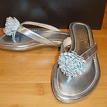 168 Elie Tahari Womens Laurel Thong Leather Sandals Shoes Size 39.5 9.5 Nwb Photo