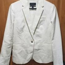 168 J.crew Campbell Blazer in White Linen Tan Size 6 Photo