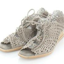 17-59 150 Women's Sz 10 M Jeffrey Campbell Espejo Lace-Up Wedge in Taupe Photo