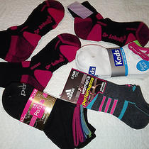 17 Lot New Ladies Sports Socks Peds Adidas Keds Dr Scholls Free Shipping  Photo