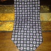 175 Giorgio Armani Tie- Navy Blue Violet Silver Photo