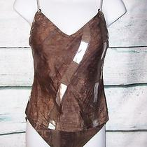 177 Gottex Brown Foil Bra Top Tankini Swimsuit Set Size 8-6 Nwt Sold Out Photo