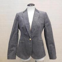 178 J.crew Campbell Blazer in Corduroy 000 P Petite Graphite Gray E2899 Preppy Photo