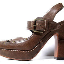 179 Frye Boots 8 Frye Brown Leather Vintage Style Heels Primo Size 8 Photo