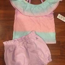 18 24 M Baby Gap Children's Place Shirt Lavender Bubble Shorts Girl Outfit Nwt  Photo