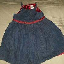 18 / 24 Month Baby Gap Jean Dress Red Lining Girl Denim Photo