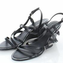 18-48 275 Women's Sz 38 M Sigerson Morrison Maia Strappy Leather Wedge Sandal Photo