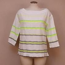 188 J Crew Lemlem Teddy Smock Shirt Neon Green Small Photo