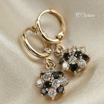 18k Rose Gold Gf Stud Swarovski Crystal Earrings  Photo