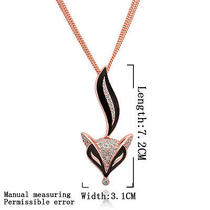 18k Rose Gold Gp Crystal Attactive Fox Lady Sweater Chain Necklace 32'' Ym007 Photo