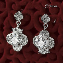 18k White Gold Gf Stud Swarovski Crystal Earrings  Photo