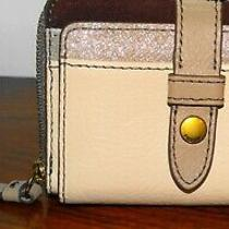 19.99 Stocking Stuffer From Fossil Leather Fiona Zip Coin Credit Card Case Nwt Photo