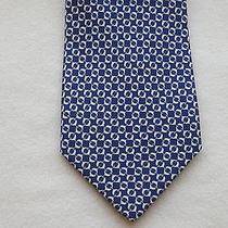 190 Nwt Authentic Salvatore Ferragamo Silk Blue Dolphins Tie  Photo