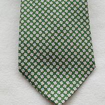 190 Nwt Authentic Salvatore Ferragamo Silk Green Four Leaf Clover Tie Photo