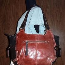 190 the Sak Large Trio-Brown Leather Slouch-Tote Shoulder Bag Photo