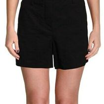 190 Theory Cargo High Rise Linen Blend Women's Shorts in Black Caliver 8 29 M Photo