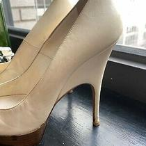 1900 Authentic Balenciaga Size 38 Cream Calfskin Platform Stiletto Pumps Shoes Photo