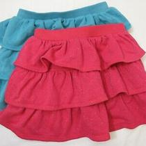 190880 Girl's Xl 12 Gap Kids Lot of Two Sparkle Glitter Tiered Terry Knit Skirts Photo