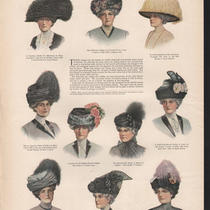1910 American Hat Elder Women Patterson Adams Flower Ad Photo