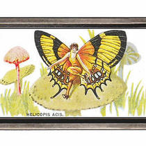 1920s Flapper Girl Monarch Butterfly Colorful Fantasy Belt Buckle Sturdy Metal Photo