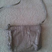 1930s Whiting Davis Beige Shoulder Handbag/beautiful Silver Cameo Earrings Photo