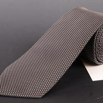 195 Dior Homme Black Silk Satin Tie New Photo
