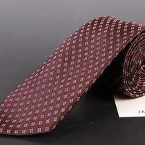 195 Dior Homme Burgundy Silk Satin Tie New Photo