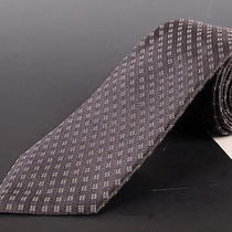 195 Dior Homme Dark Gray Silk Satin Tie New Photo