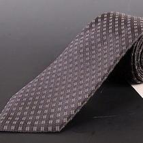 195 Dior Homme Dark Gray Silk Satin Tie New Photo