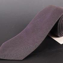 195 Dior Homme Deep Purple Silk Satin Tie New  Photo