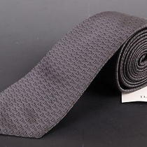 195 Dior Homme Gray Silk Satin Logo Tie New Photo