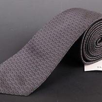 195 Dior Homme Gray Silk Satin Logo Tie New Photo