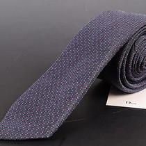 195 Dior Homme Gray Silk Satin Skinny Tie New Photo