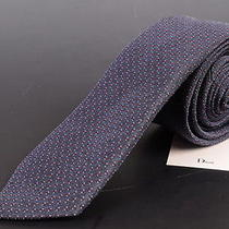195 Dior Homme Gray Silk Satin Skinny Tie New Photo