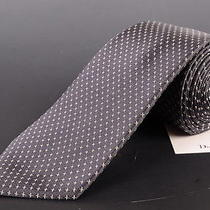 195 Dior Homme Gray Silk Satin Tie New Photo