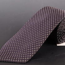 195 Dior Homme Navy Blue Silk Satin Tie New Photo