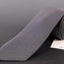 195 Dior Homme Navy Blue Silk Satin Tie New Photo