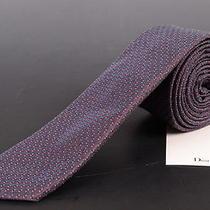 195 Dior Homme Purple Silk Satin Skinny Tie New Photo