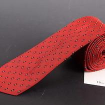 195 Dior Homme Red Silk Satin Skinny Tie New Photo