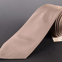 195 Dior Homme Solid Beige Silk Satin Tie New Photo