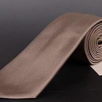 195 Dior Homme Solid Beige Silk Satin Tie New Photo