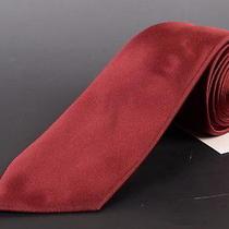 195 Dior Homme Solid Burgundy Silk Satin Tie New Photo
