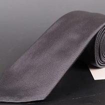 195 Dior Homme Solid Gray Silk Satin Tie New Photo