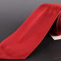 195 Dior Homme Solid Red Silk Satin Tie New  Photo