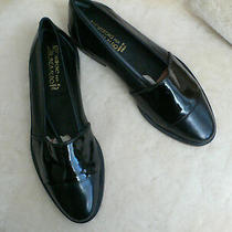 195 Linea Aldo Loafers Us 7 D Black Leather/ Patent Leather Made in Italy New Photo