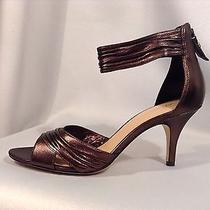 195 via Spiga Leather Brown/broze Womens Sandals Size 7 Photo