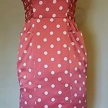1950 Inspired Betsey Johnson Satin Polka Dots Rockabilly Fitted Summer Dress Photo