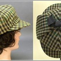 1950's Vintage Sherlock Holmes Deerstalker Detective Cap by Christy's of London Photo