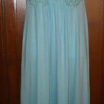 1960's Full Length Aqua Prom Gown Size 7/8 Photo